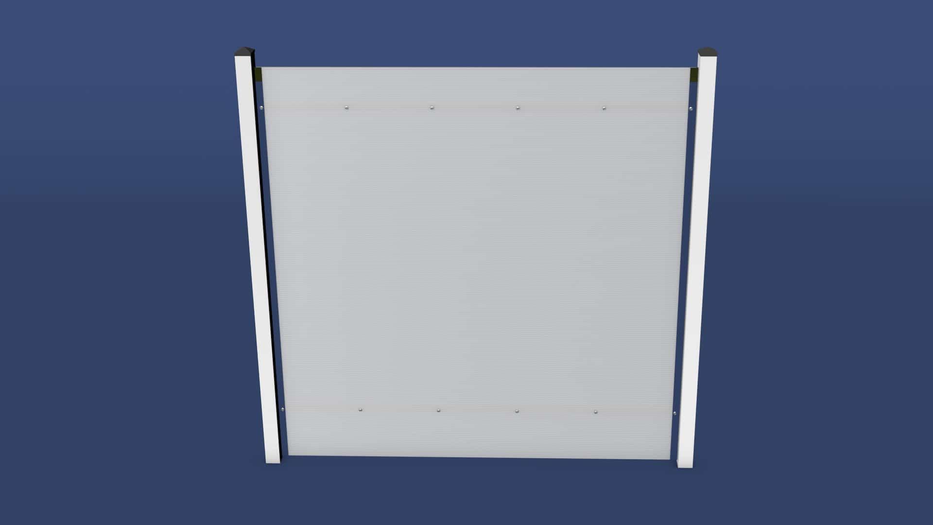 Kunststoff Sichtschutz Zaun Eva von moreplast