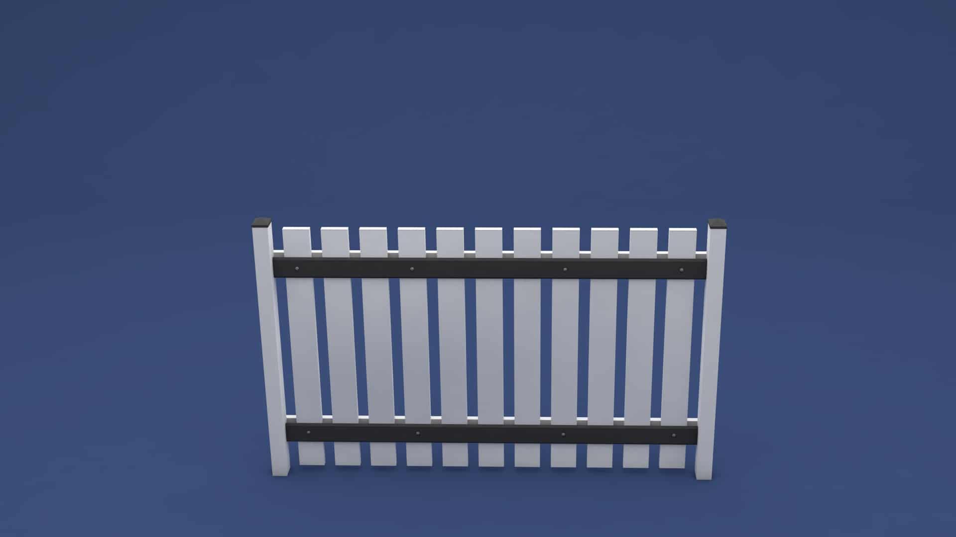 moreplast Kunststoff Zaun Lisa