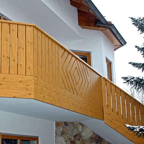 moreplast Balkon aus Kunststoff