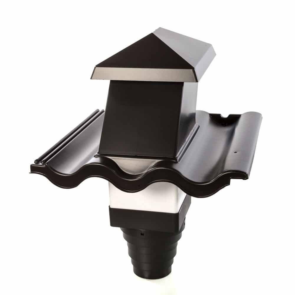 Kunststoff Entlüftungspfanne / Lüfterpfanne schwarz für Dachpfanne
