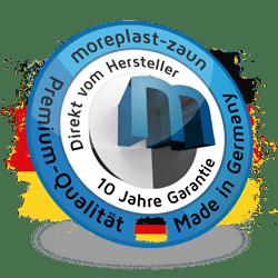 Güte-, Qualitäts- und Garantiesiegel vom moreplast